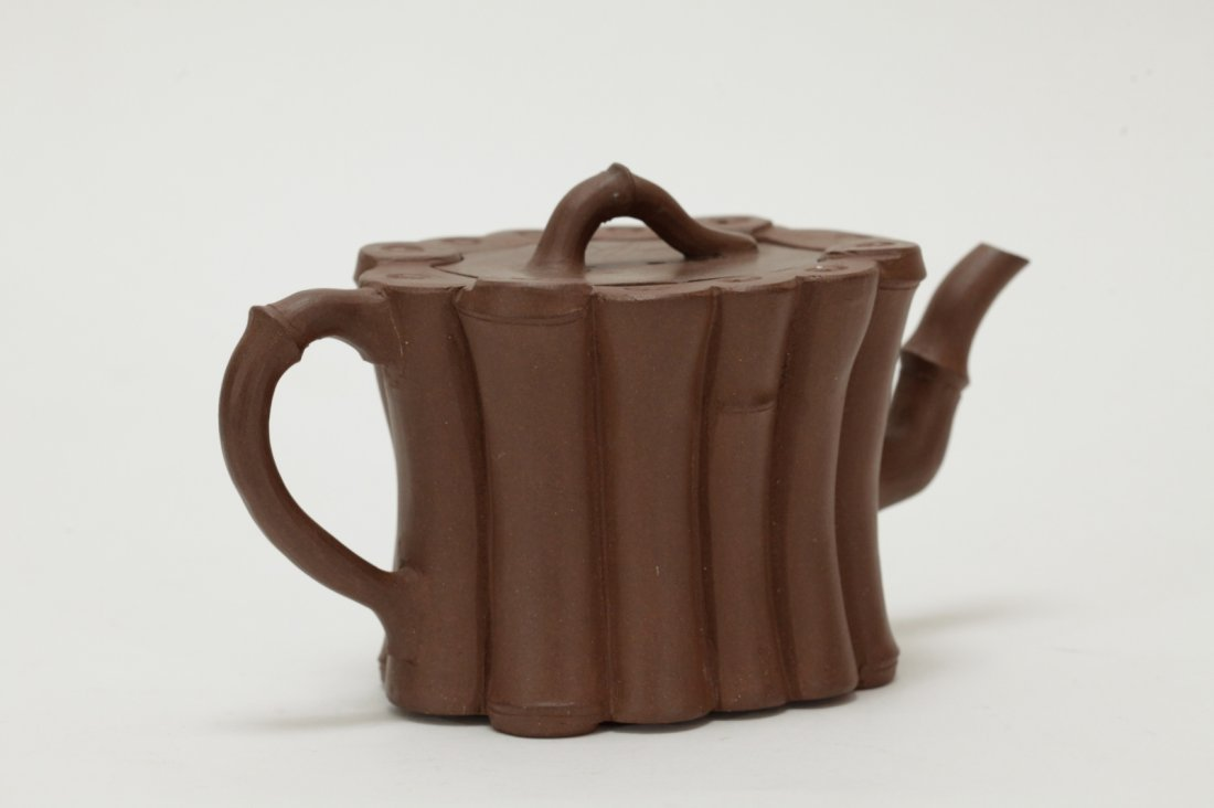 18th C. Chinese Yixing Zisha Teapot - 4