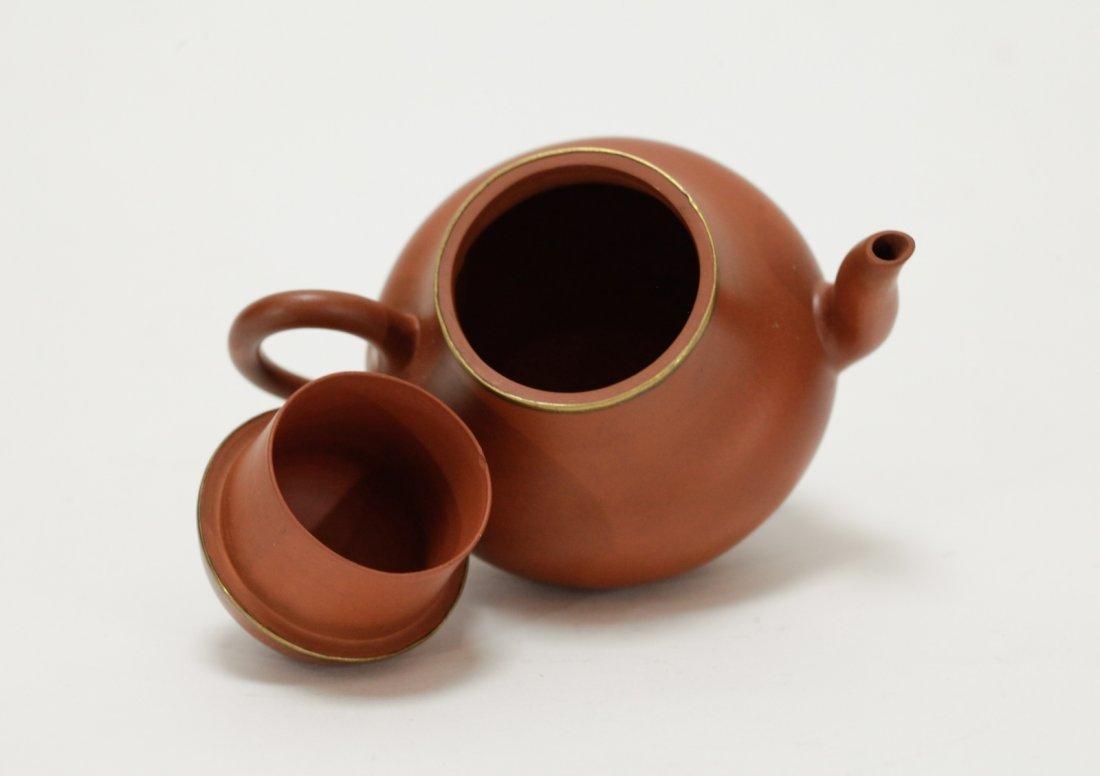 Chinese Yixing Zisha Teapot, Marked on Handle - 5