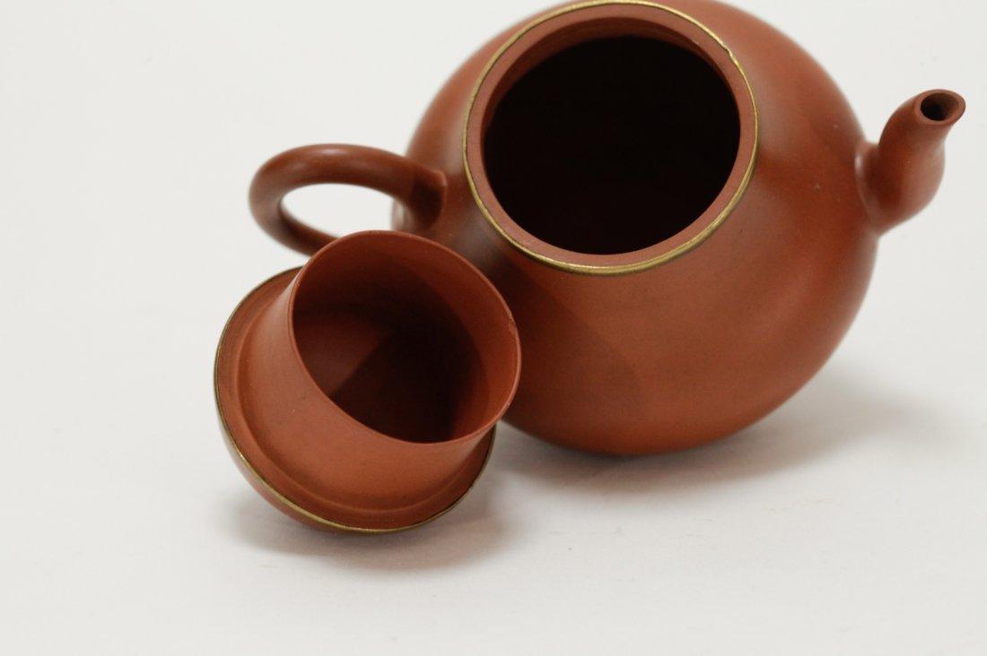 Chinese Yixing Zisha Teapot, Marked on Handle - 6