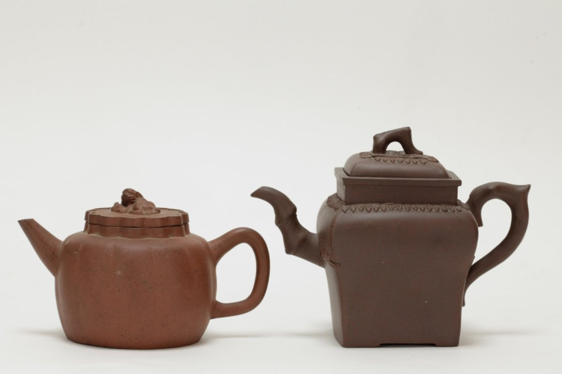 2 Pieces of Chinese Yixing Zisha Teapot - 18th C.