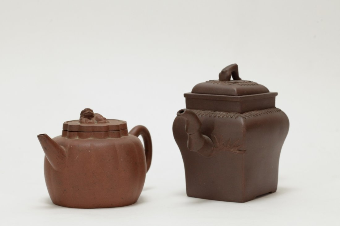 2 Pieces of Chinese Yixing Zisha Teapot - 18th C. - 2