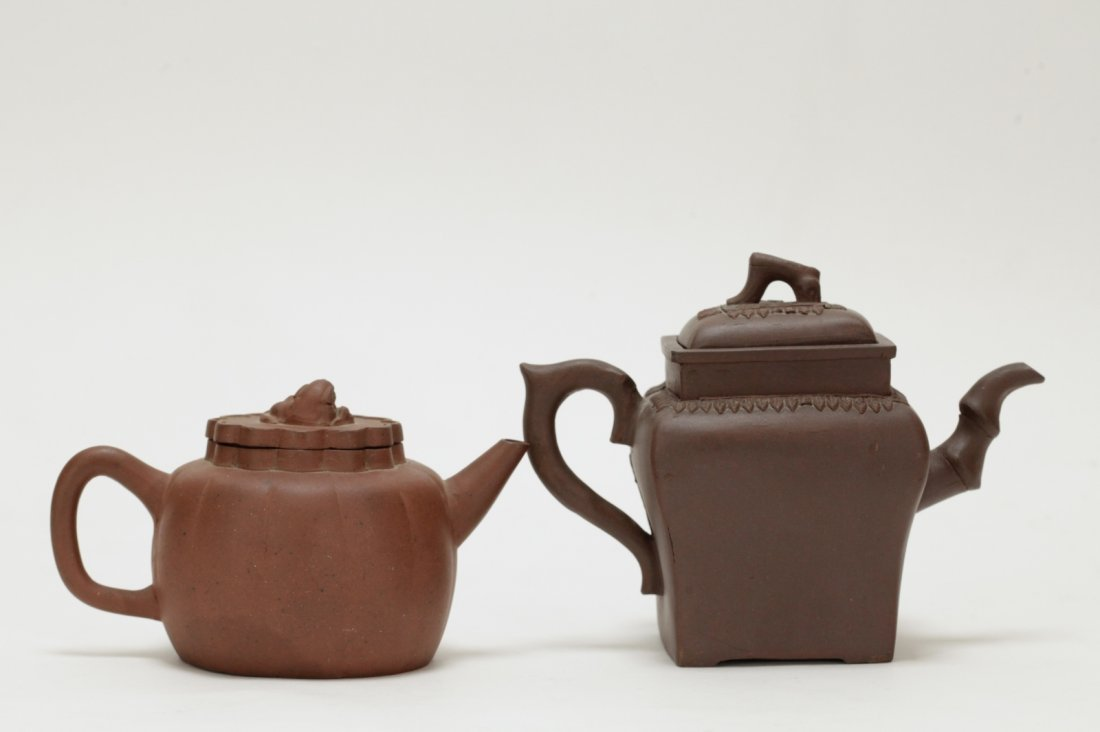 2 Pieces of Chinese Yixing Zisha Teapot - 18th C. - 3