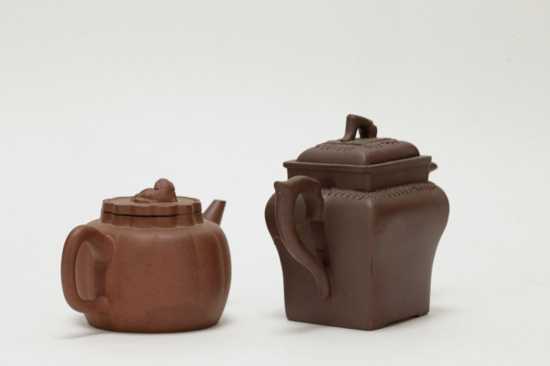 2 Pieces of Chinese Yixing Zisha Teapot - 18th C. - 4