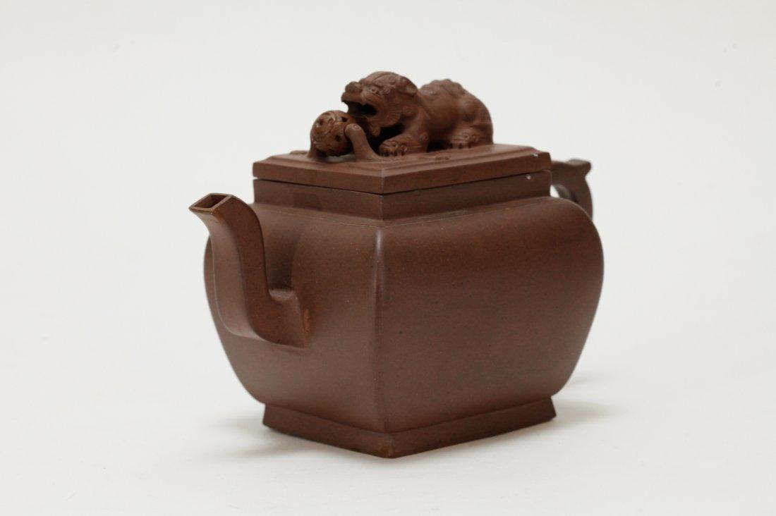 Chinese Yixing Zisha Teapot, 18th C. - 3