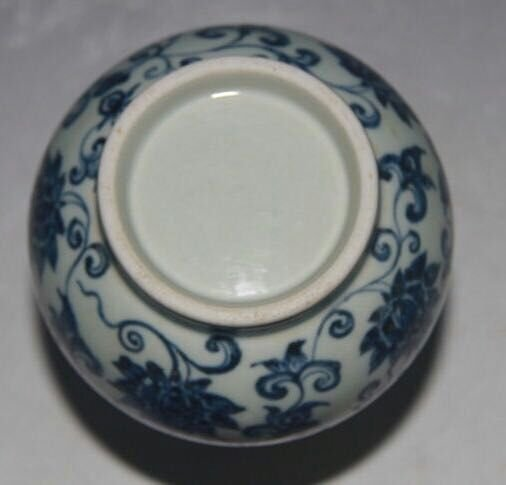Chinese Blue/White Porcelain Vase, Marked - 7