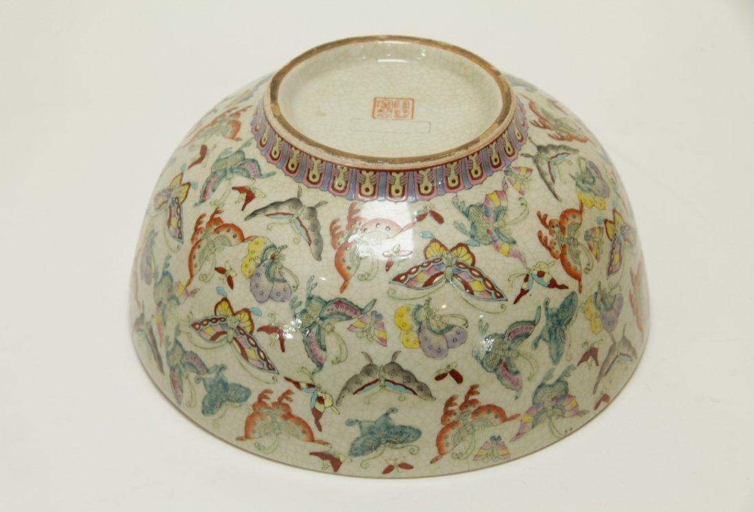 Chinese Porcelain Hundreds Butterflies Vase - 10
