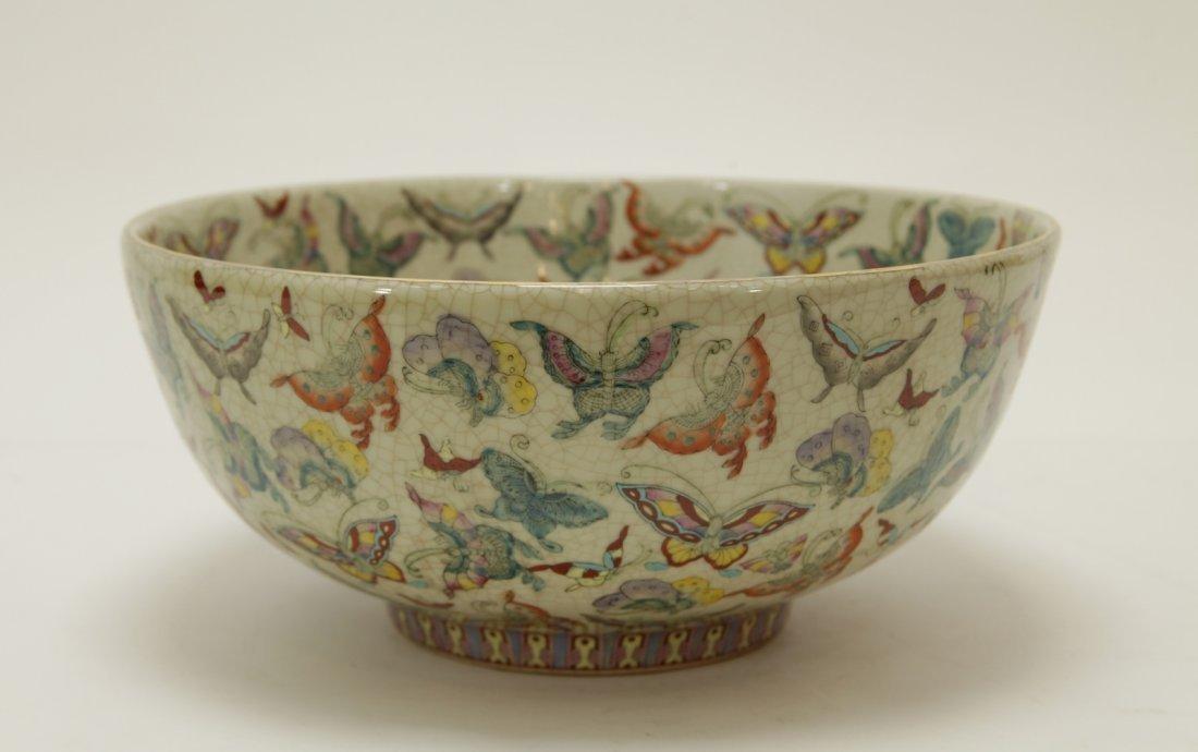 Chinese Porcelain Hundreds Butterflies Vase