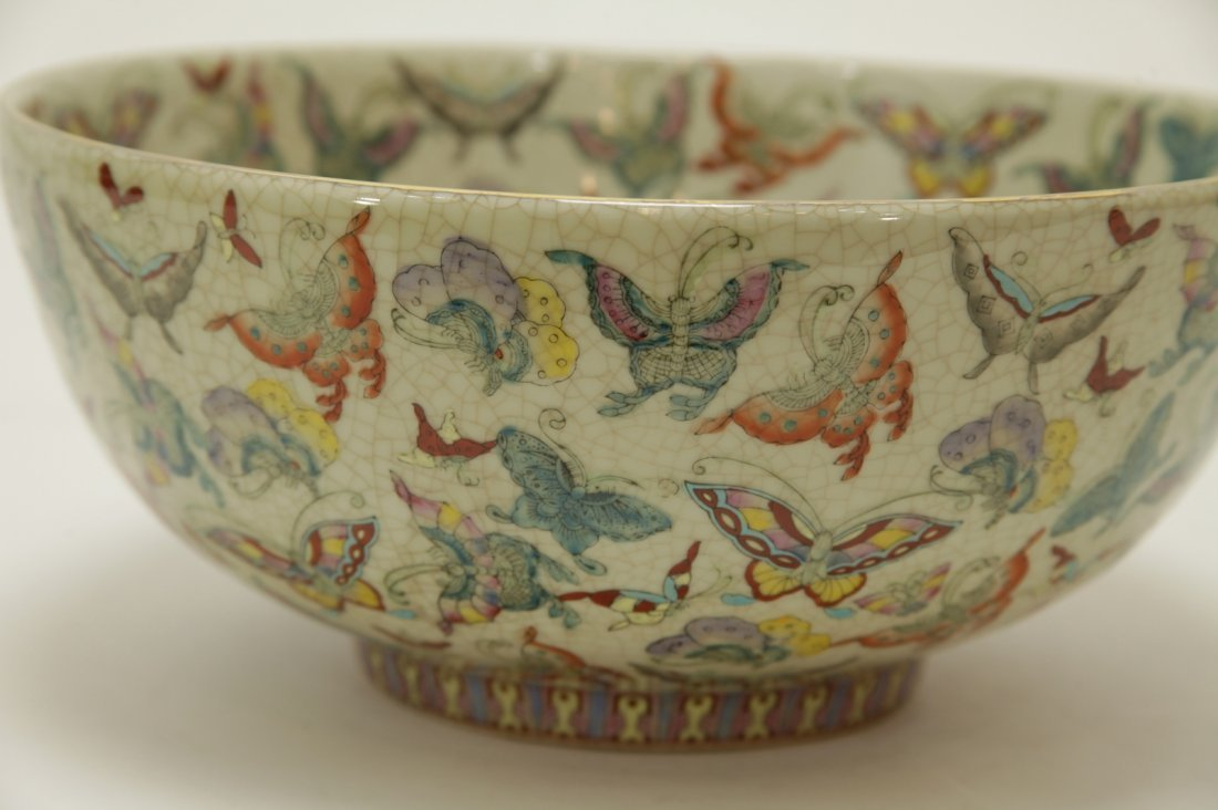 Chinese Porcelain Hundreds Butterflies Vase - 2