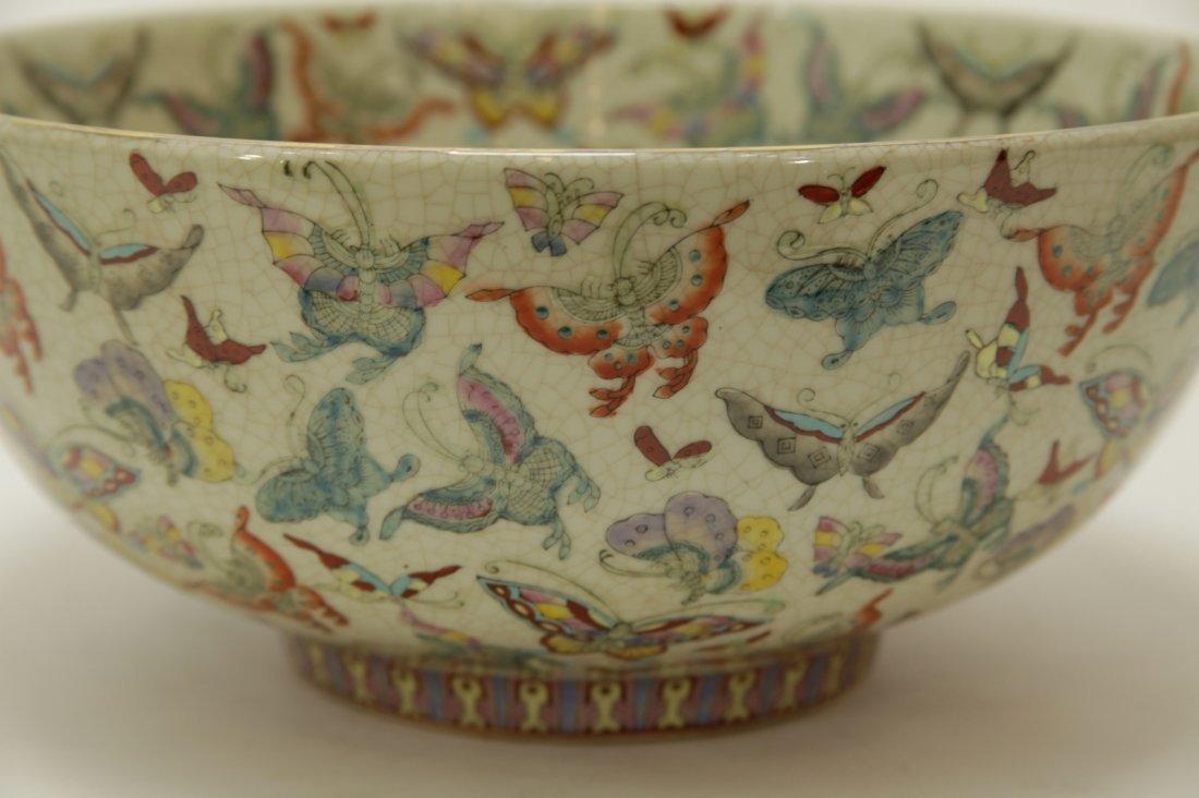 Chinese Porcelain Hundreds Butterflies Vase - 3
