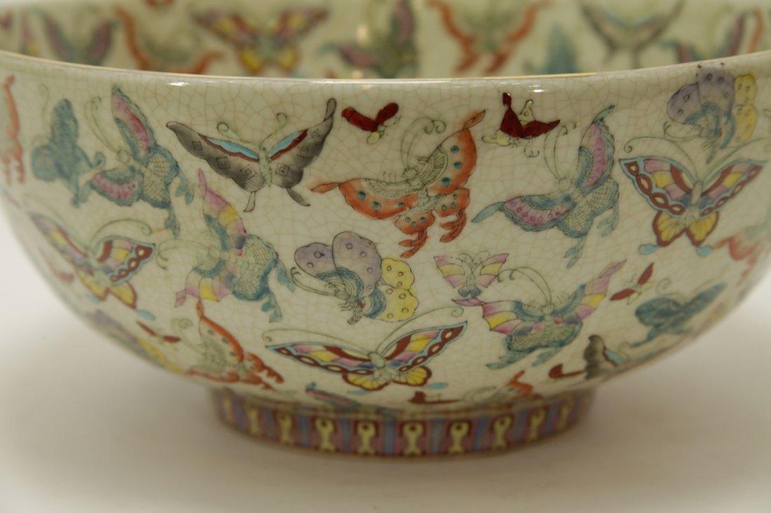 Chinese Porcelain Hundreds Butterflies Vase - 4