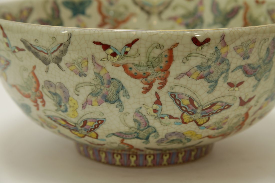 Chinese Porcelain Hundreds Butterflies Vase - 5