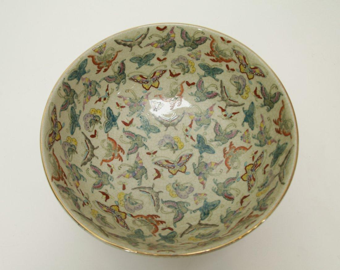 Chinese Porcelain Hundreds Butterflies Vase - 6