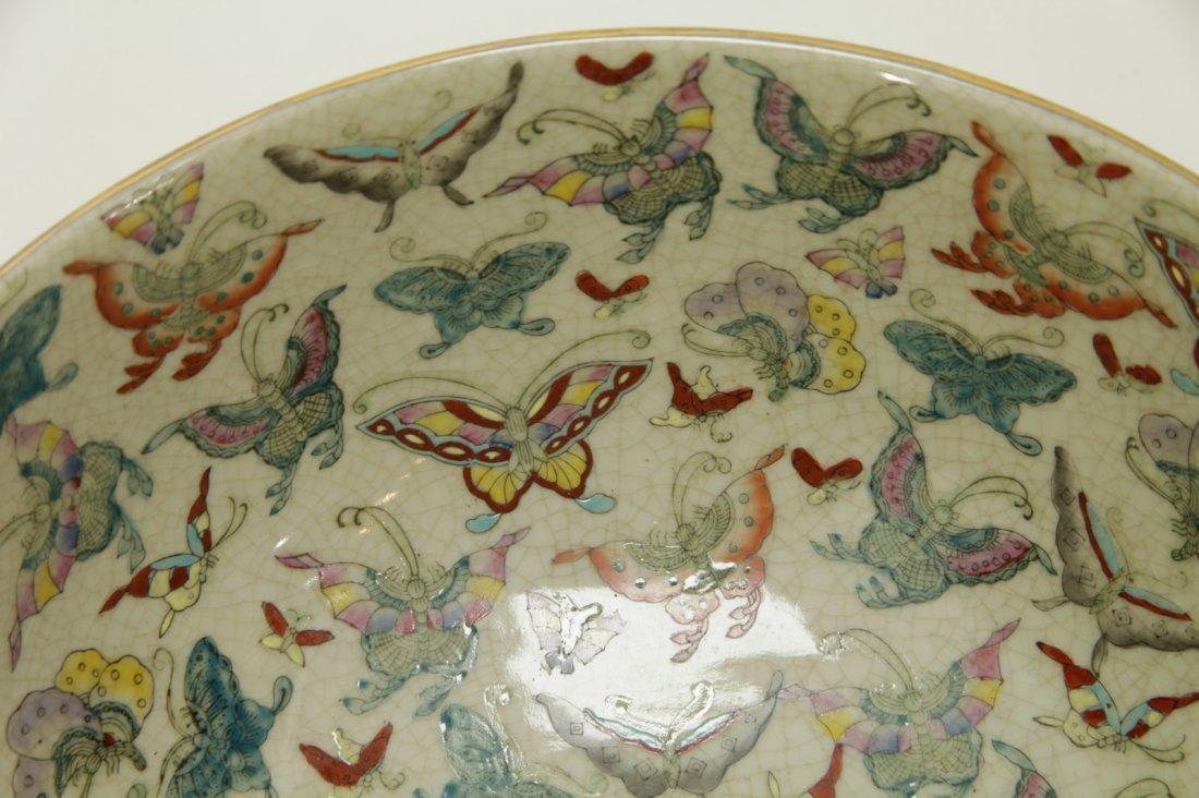 Chinese Porcelain Hundreds Butterflies Vase - 7