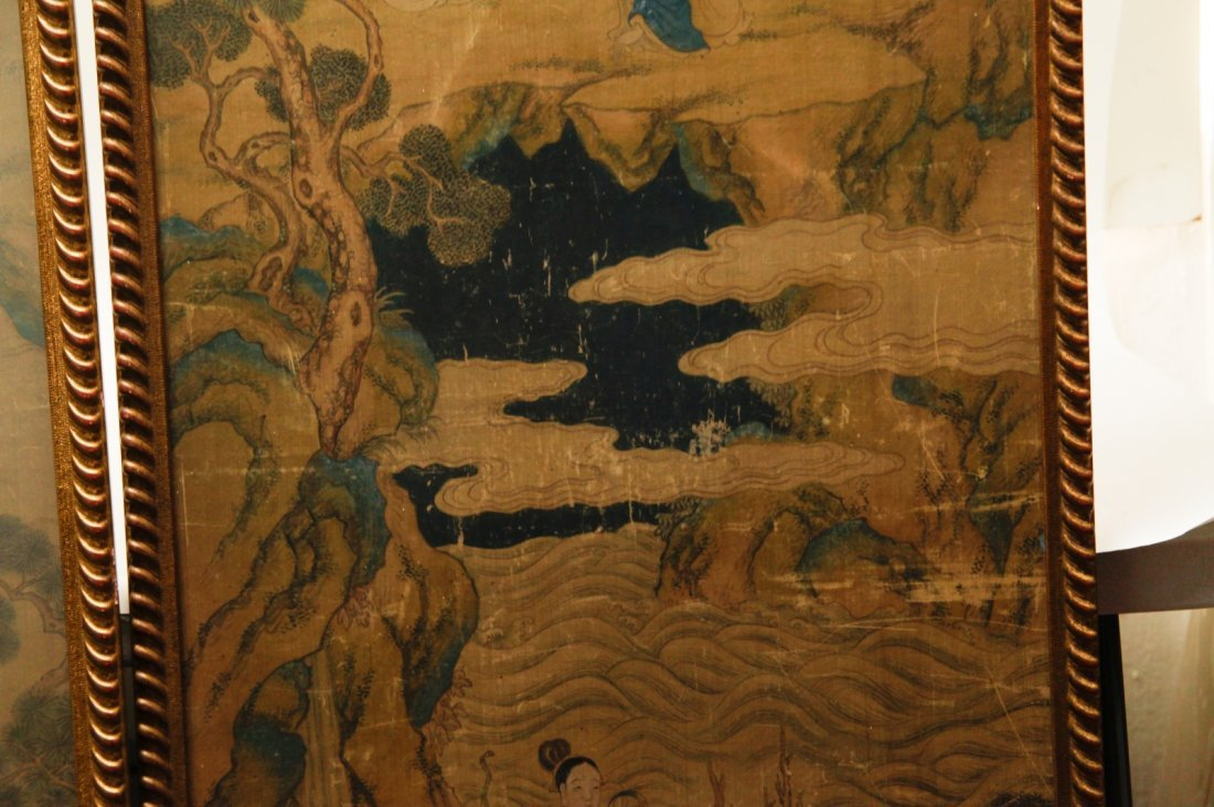 Pair of Chinese 19/20th C. Paintings - 10