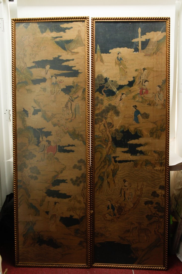 Pair of Chinese 19/20th C. Paintings