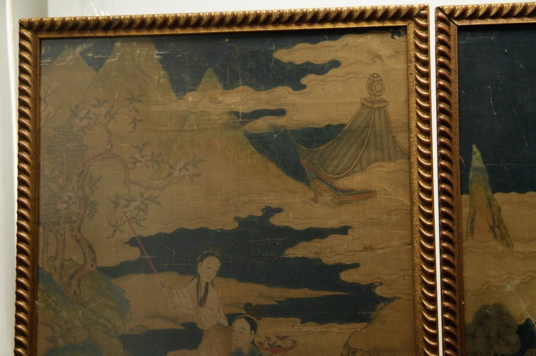 Pair of Chinese 19/20th C. Paintings - 2