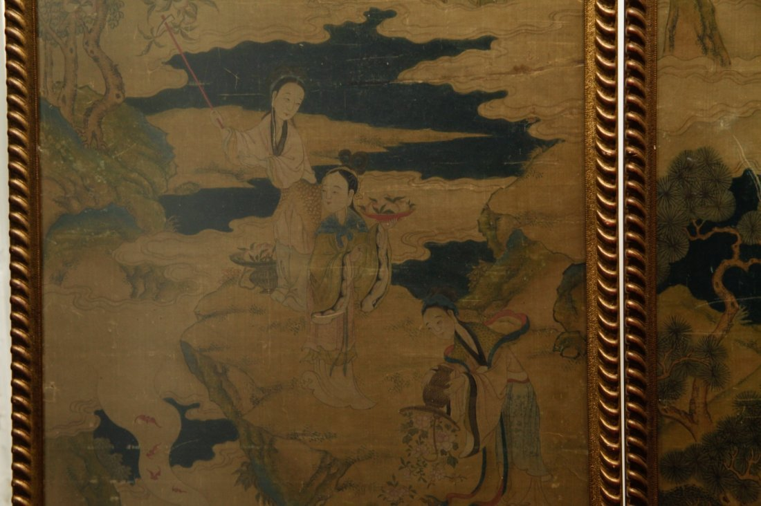 Pair of Chinese 19/20th C. Paintings - 3