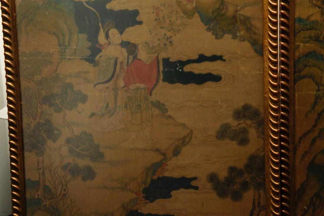 Pair of Chinese 19/20th C. Paintings - 5
