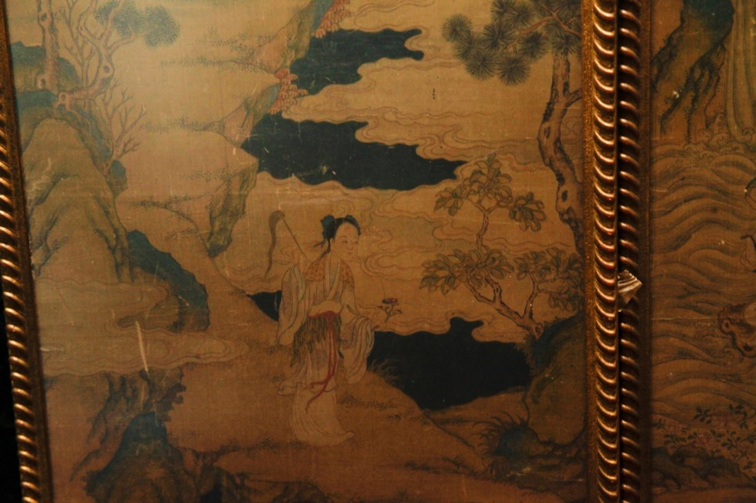 Pair of Chinese 19/20th C. Paintings - 6