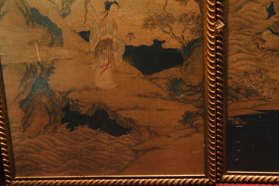 Pair of Chinese 19/20th C. Paintings - 7