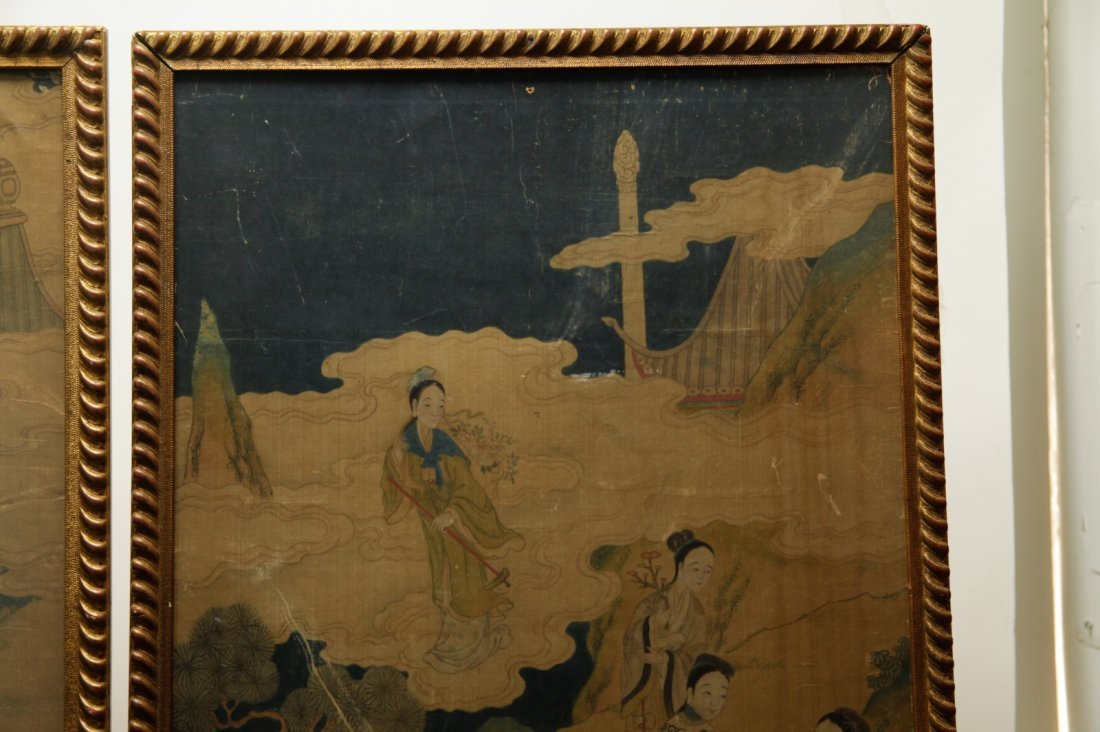 Pair of Chinese 19/20th C. Paintings - 8
