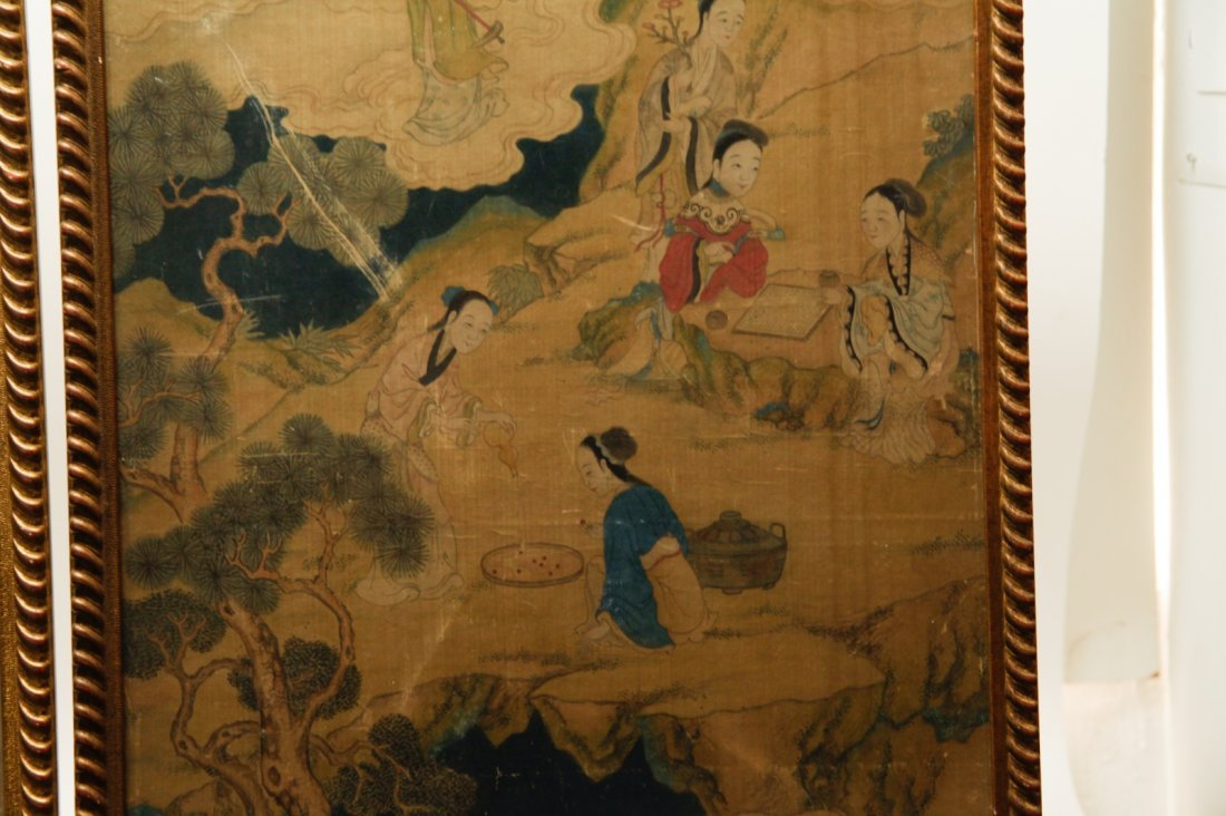 Pair of Chinese 19/20th C. Paintings - 9