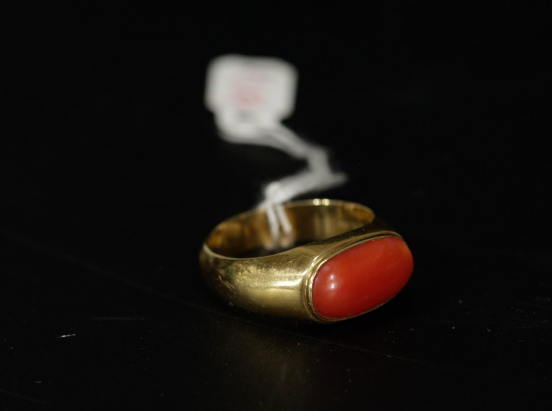 18K Coral Ring