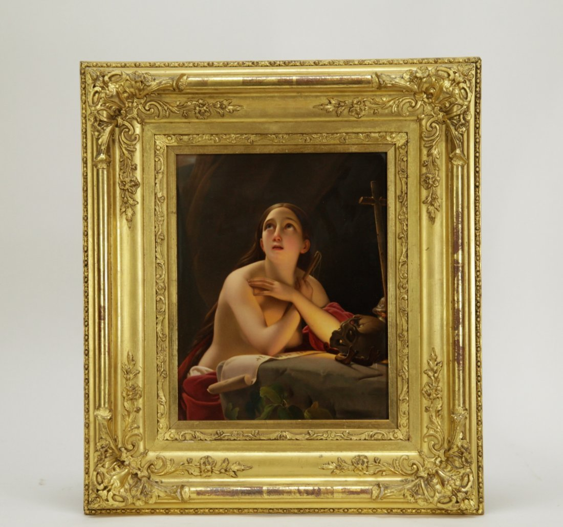 K.P.M. Fantastic Quality Semi-Nude Lady Porcelain