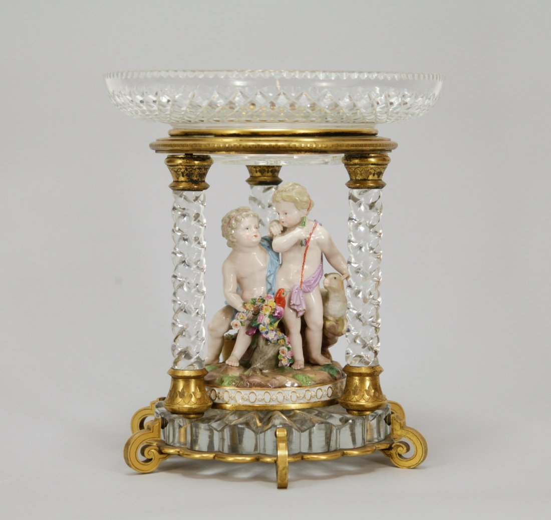 Meissen Baccarat Center Piece
