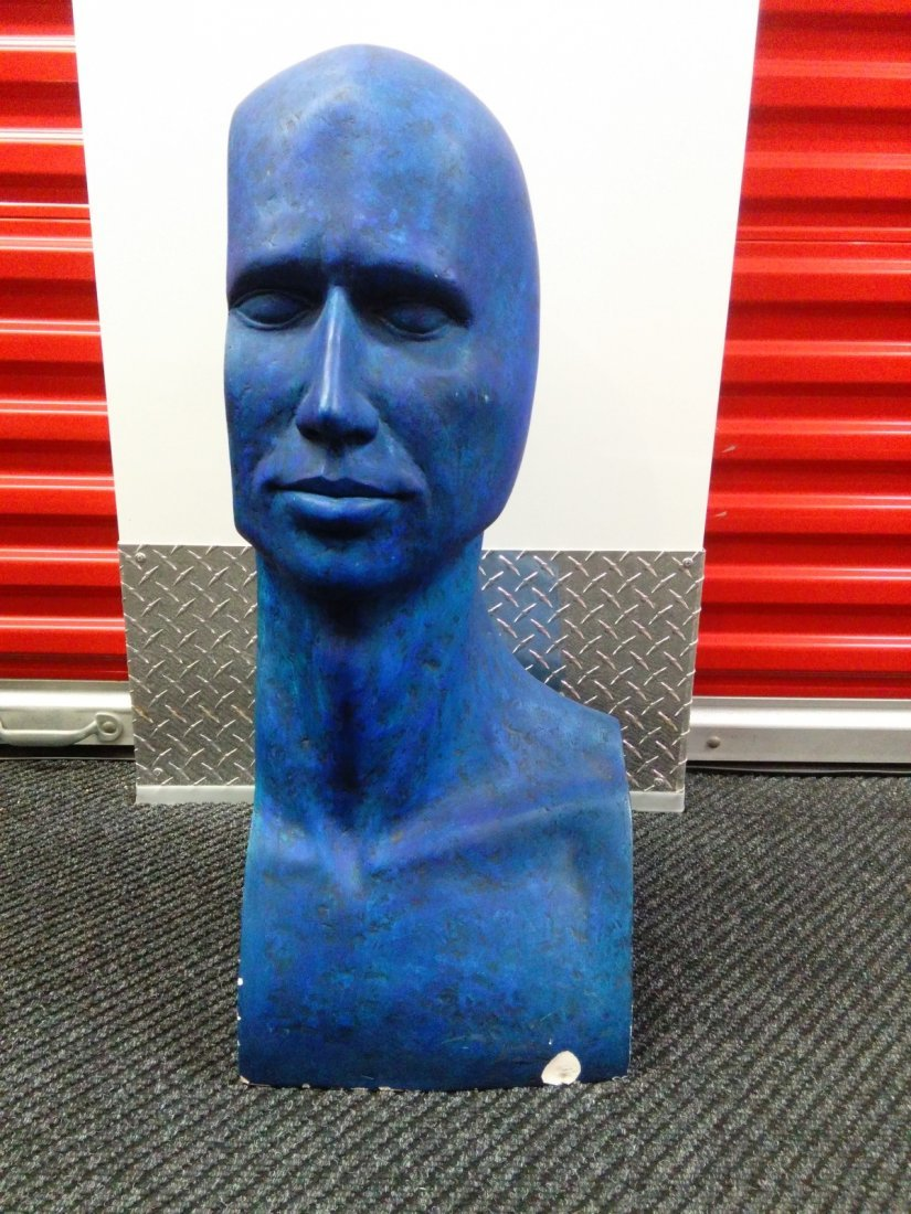 Plaster Made of a Blue Man