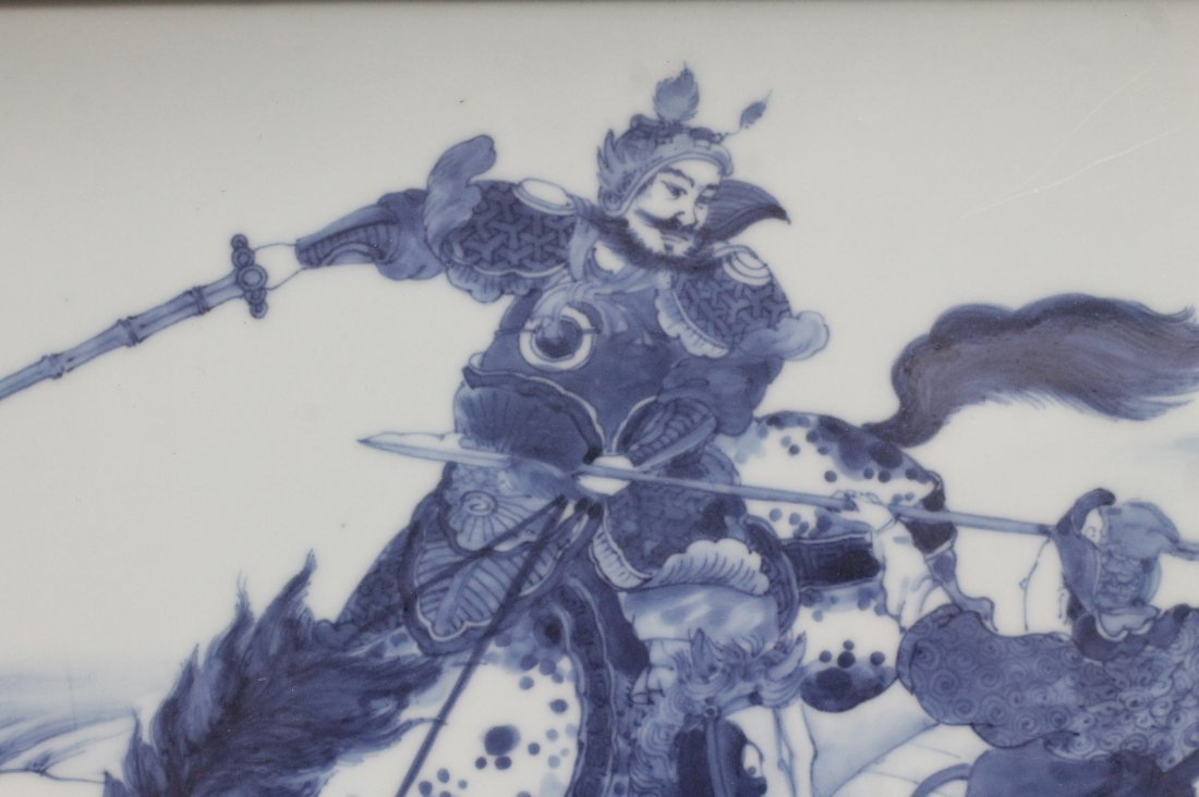 Pair of Chinese Blue/White Porcelain Plaque - 2