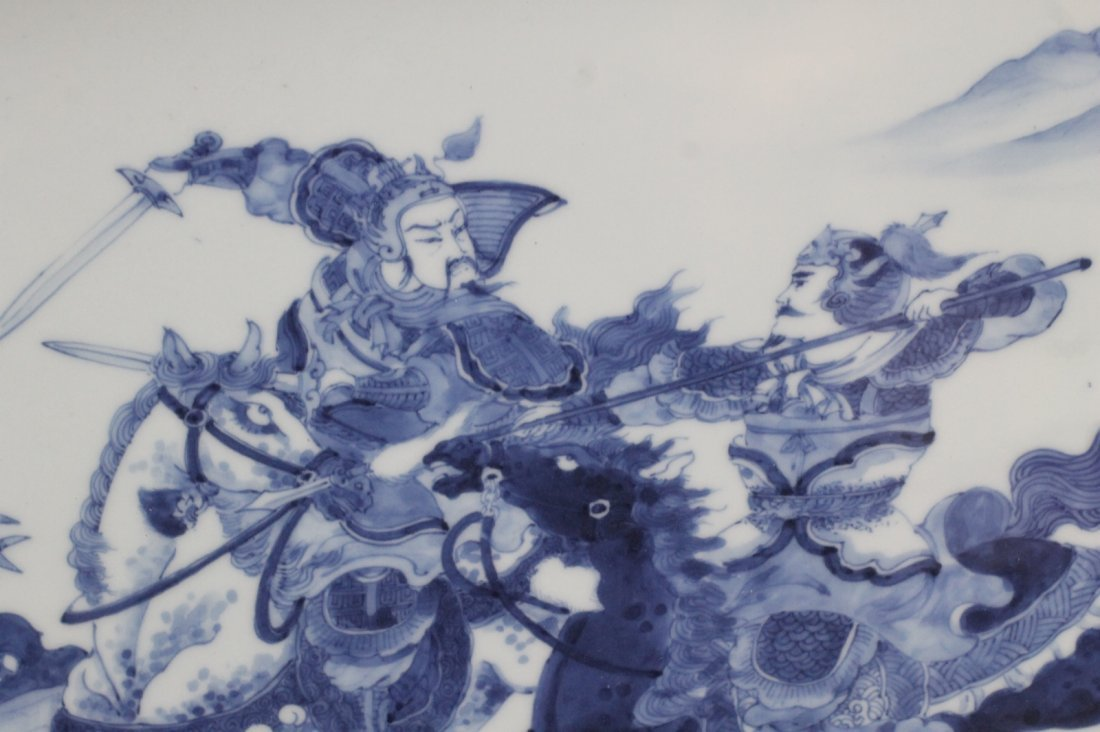 Pair of Chinese Blue/White Porcelain Plaque - 5