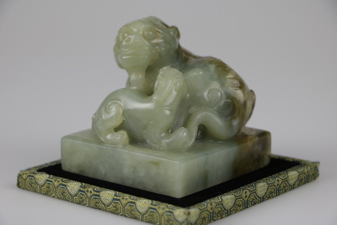Chinese Qing Dynasty Jade Carved Seal - 2
