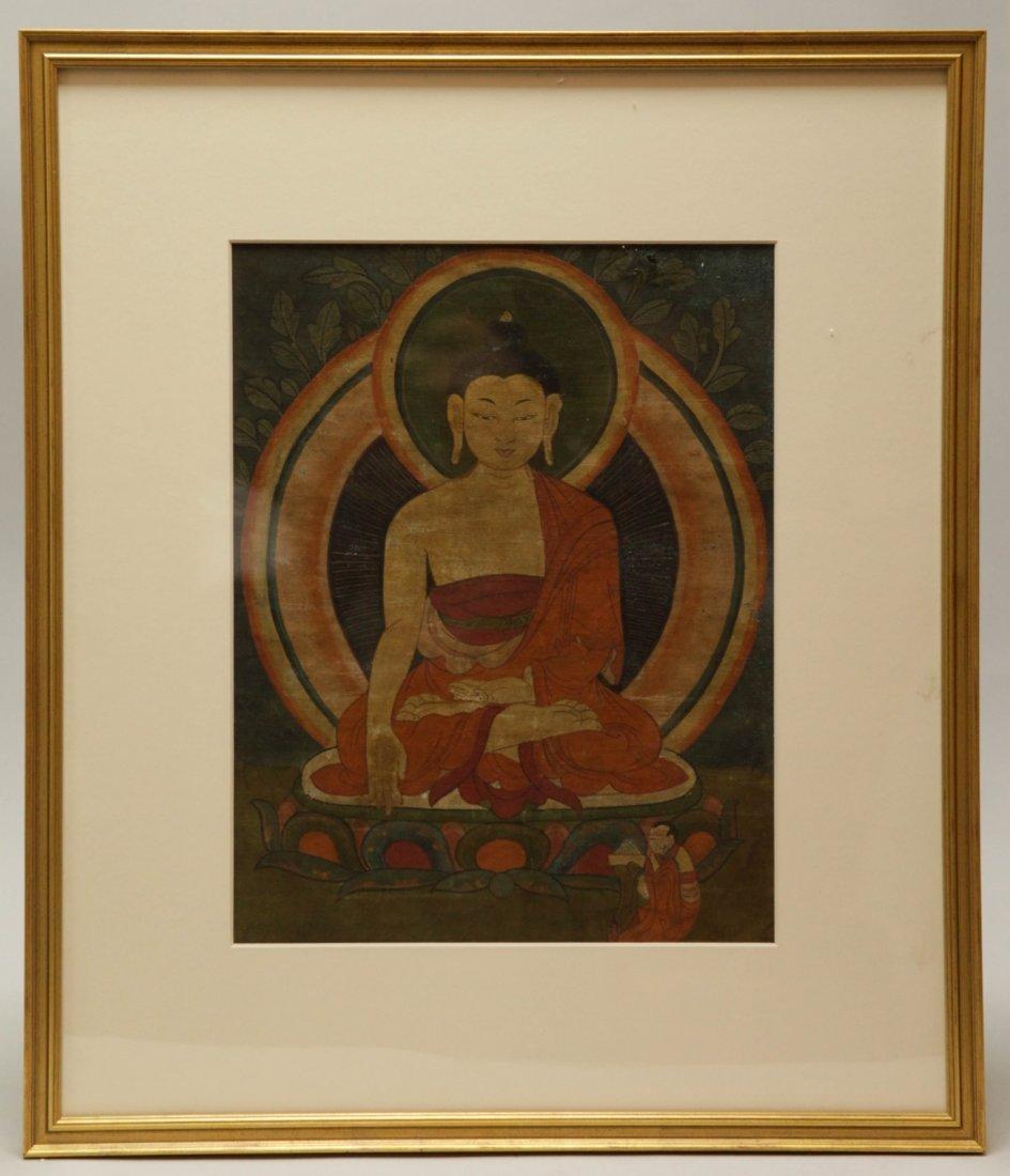 18th C. Tibetan Thangka of a Buddha