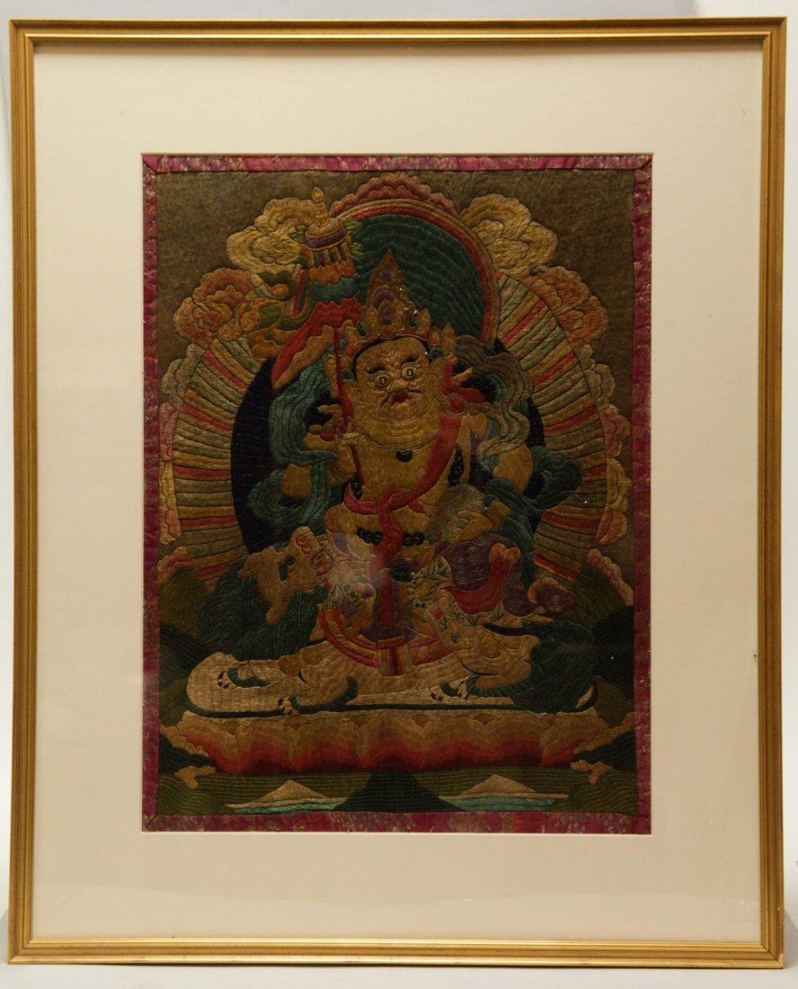18th C. Embroidery Silk of Tibetan Buddha