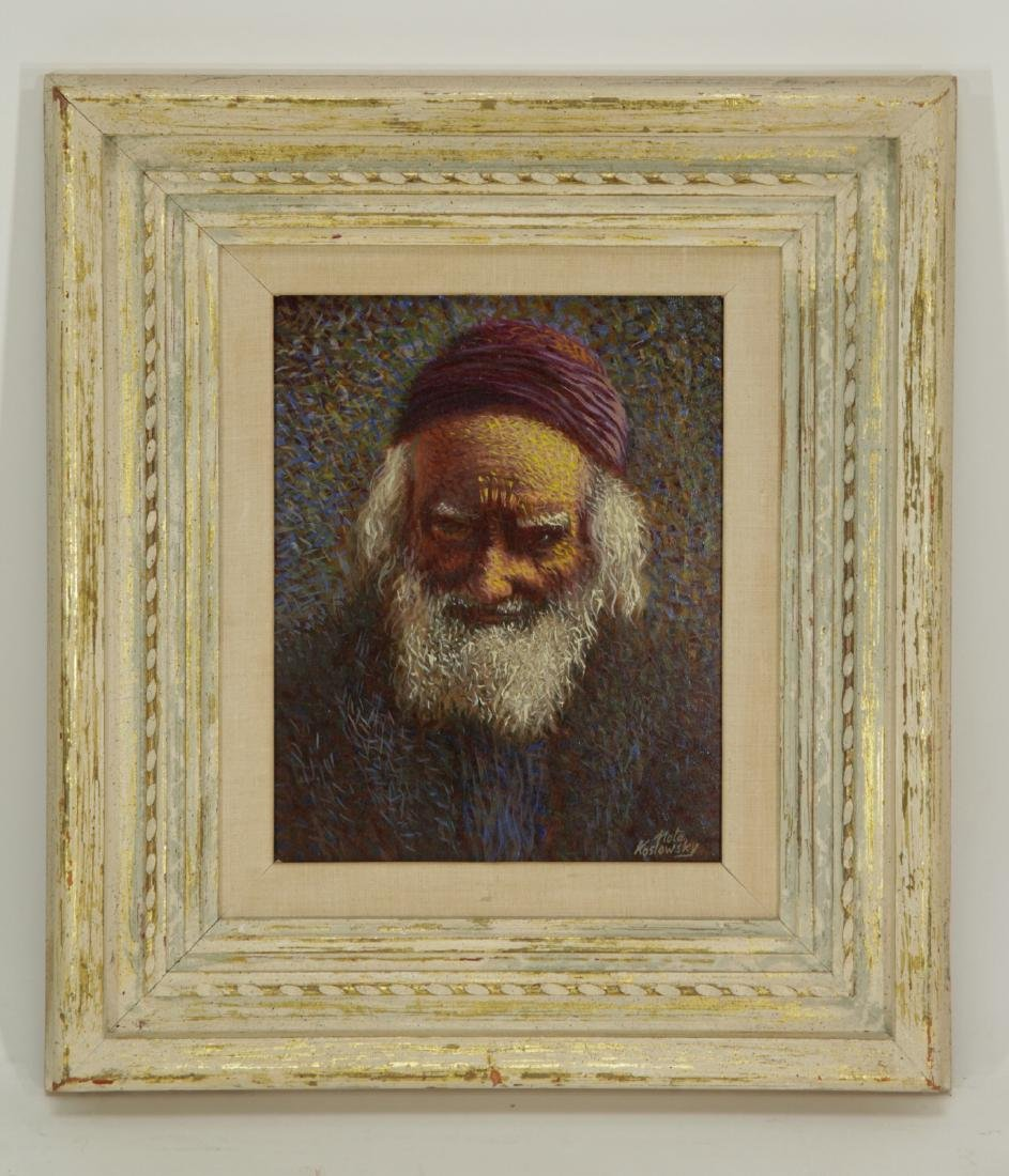 "Oil on Board by ""Nota Koslowsky""- Rabbi"