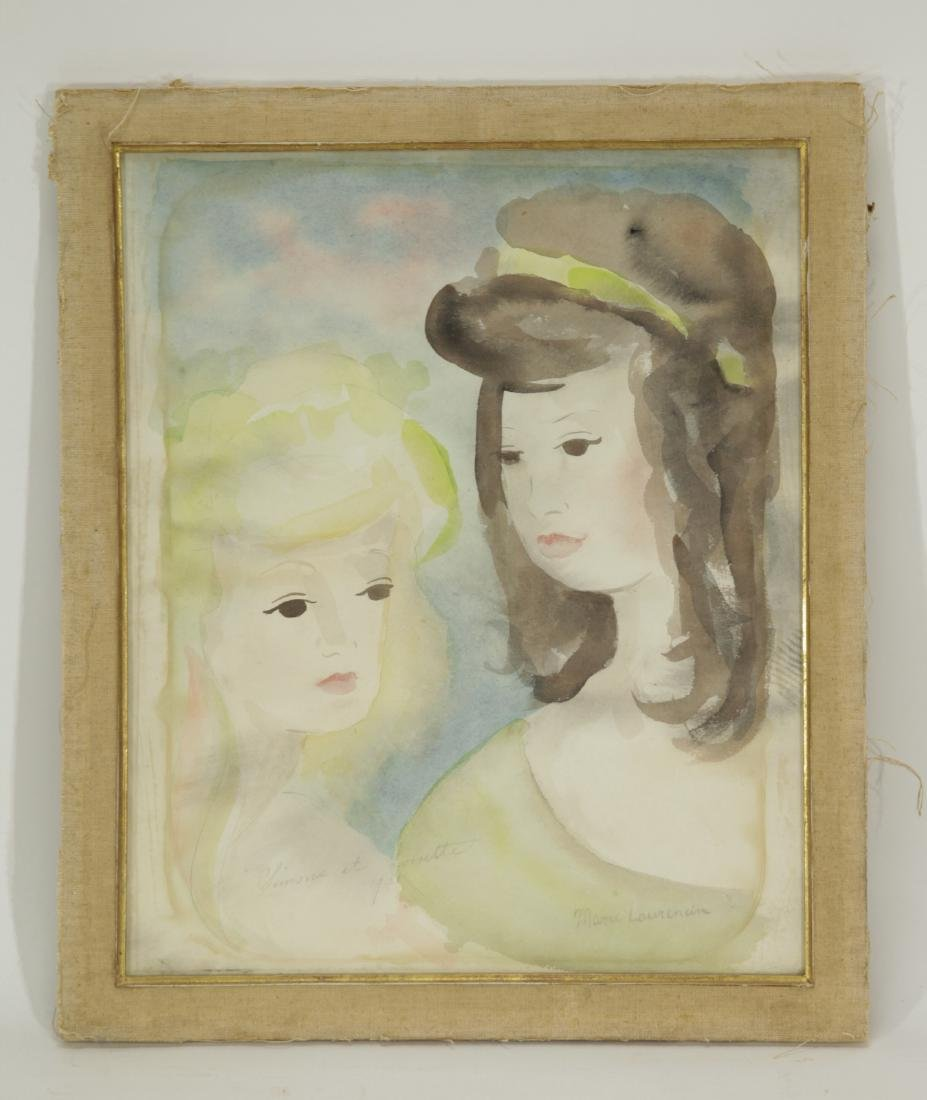 Marie Laurencin - Watercolor, Dated 1921