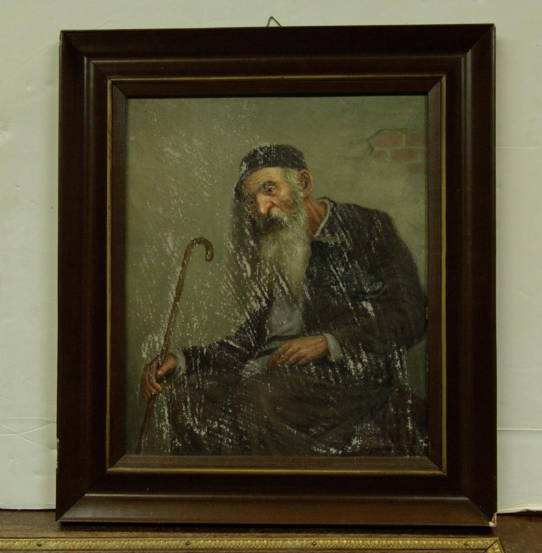 O/C Jewish Old Man, Signed