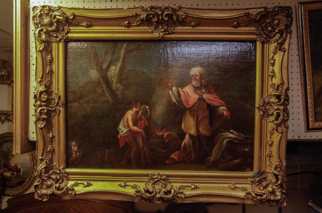Oil on Board, Sacrifice of Isaac, 18th C.