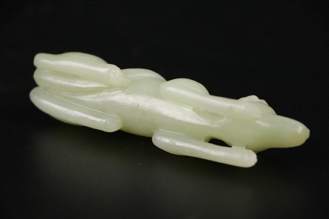 Qing Dynasty Chinese Carved Jade Dog - 4