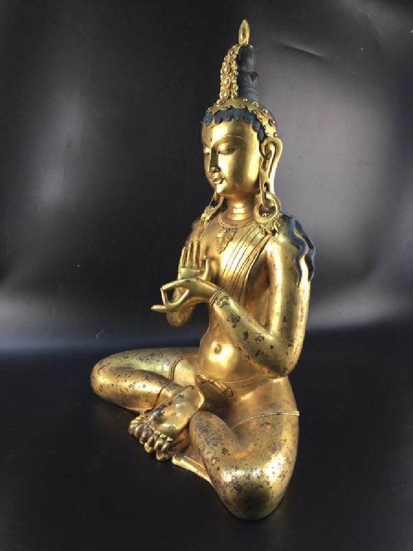 Antique Chinese Bronze Buddha - 5