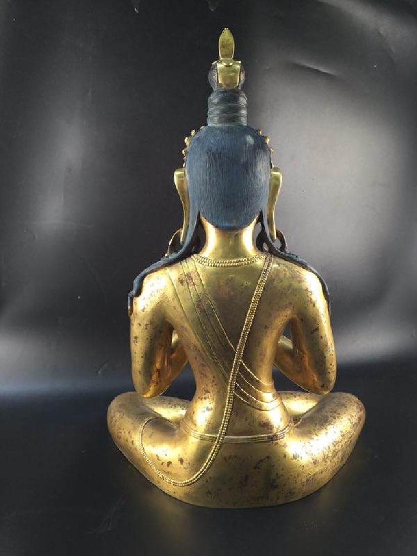 Antique Chinese Bronze Buddha - 6