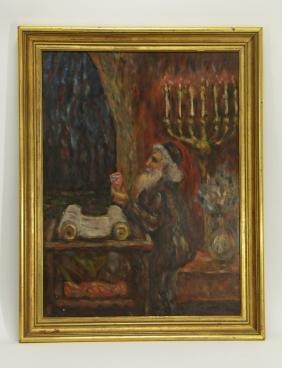 "European Oil Painting, Marked ""Mane Katz"""