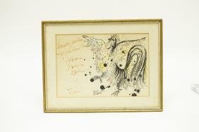 Reuven Rubin Drawing of a Rooster