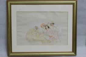 """Persian Miniature on Paper, Signed""""Mohamed TajvidI"""