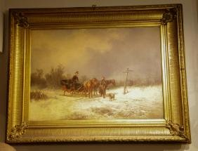 Oil Painting on Canvas, Signed