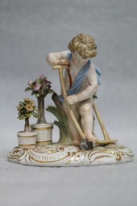 Meissen Porcelain Figure of a Gardener