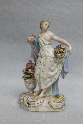 Meissen Porcelain Beauty w/ Vase