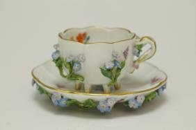Two Pieces of Meissen Porcelain Cup & Saucer