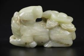 17th C. Chinese Jade Carved Horse